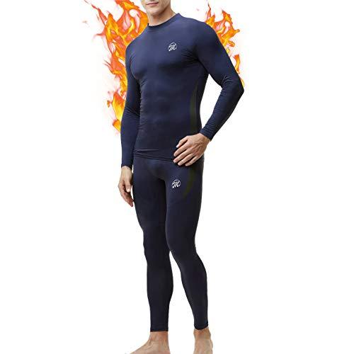 MEETWEE Thermounterwäsche Herren Funktionsunterwäsche Set,Skiunterwäsche Winter Suit Atmungsaktiv Lange Thermo Unterwäsche für Outdoor Jagd Running -