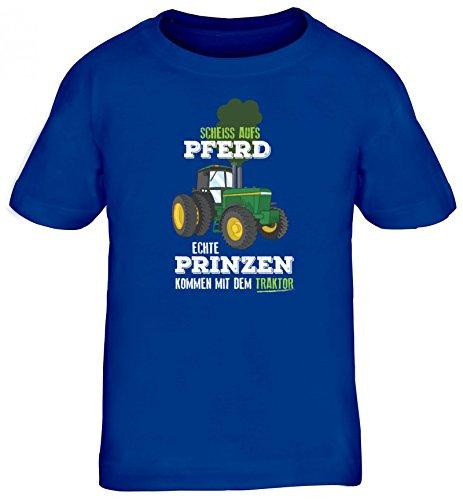 Landwirt Kids Kinder T-Shirt mit Echte Prinzen kommen mit dem Traktor Motiv von ShirtStreet, Größe: 152/164,royal blau