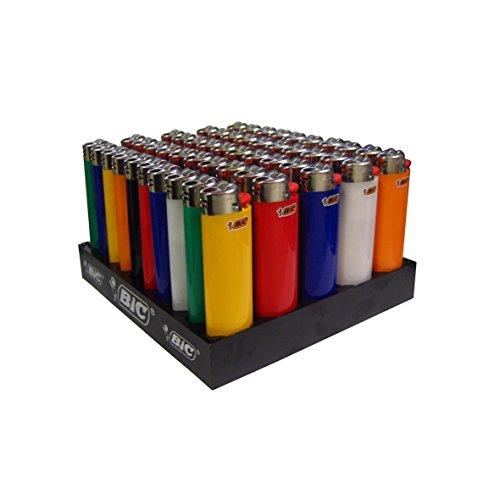 e feuerzeug BIC Feuerzeug Reibrad Maxi, neutral, sortiert, 50er Packung, 1er Pack (1 x 50 Stück)