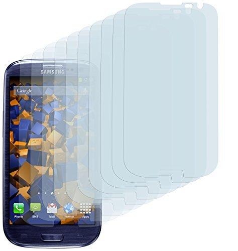 10 x mumbi Bildschirmschutzfolie Samsung Galaxy S3 Schutzfolie (bewusst kleiner als das Bildschirm, da dieses gewölbt ist)