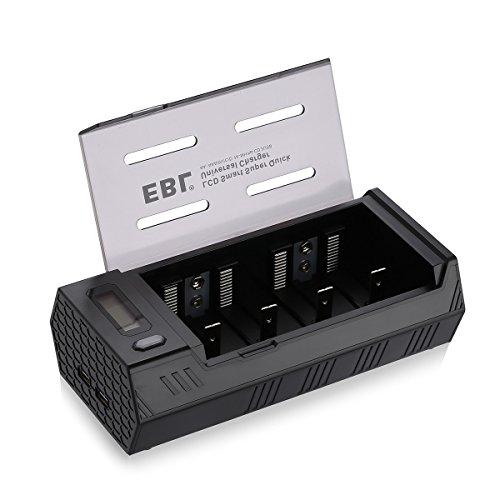 EBL 908 Chargeur de Piles Rechargeables AA/AAA Ni-MH Ni-CD Piles C/D Piles 9V avec Charge de Port USB