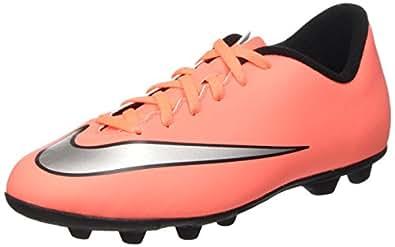 Nike Mädchen Jr Mercurial Vortex II FG-R Turnschuhe, Amarillo/Plateado/Morado (Brght MNG/MTLLC SLVR-Hypr Trq), 36 1/2 EU