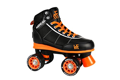 KRF The New Urban Concept Rental Sr Patines Paralelo 4 Ruedas, Negro, 44-45