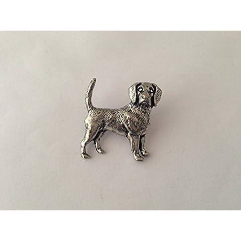D11Beagle Terrier Pin Spilla Badge in Peltro Inglese con un prideindetails pacchetto regalo
