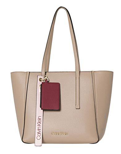 Medium Tote Bag Handtasche (Calvin Klein Jeans Damen Ck Base Medium Shopper Schultertasche, Braun (Tobacco), 16x28x42 cm)