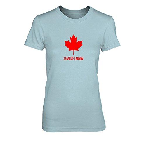 Legalize Canada - Damen T-Shirt Hellblau