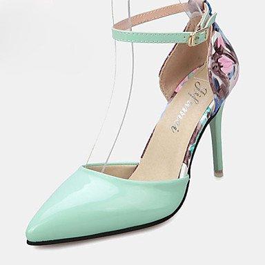 Moda Donna Sandali Sexy donna tacchi tacchi estate pu Casual Stiletto Heel fibbia verde / rosa / Bianco Altri Green