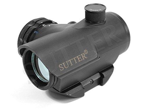 Micro Red Dot Visier 1x22 * Leuchtpunktvisier mit 19mm Anschluss * Reflexvisier Rotpunkt RedDot Zielvisier Zielfernrohr Zielgerät