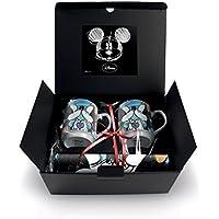 Confezione regalo 2 mug e tovagliette Mickey Love blu