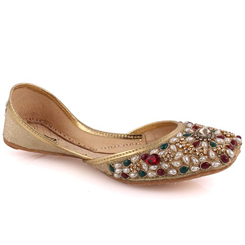 unze-new-women-traditional-opal-handmade-leather-flat-khussa-pump-slippers-shoes-gold-3-uk
