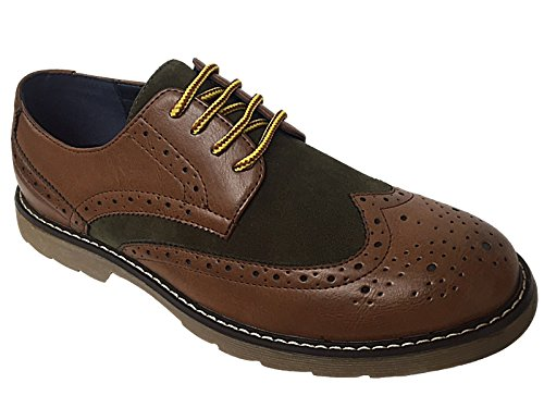 Foster Footwear ,  Jungen Herren Brogues Tan/Olive