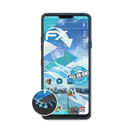 atFolix Schutzfolie passend für LG G7 One Folie, ultraklare & Flexible FX Bildschirmschutzfolie (3X)