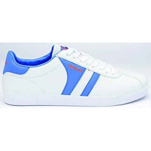 Gola Amhurst Uomo Sneaker, Bianco-Blu-Arancia, Taglia 43