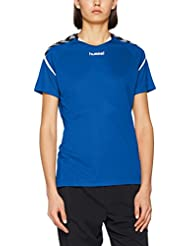 Hummel AUTH Charge SS Poly Jersey Donde Camiseta, todo el año, mujer, color true blue, tamaño M