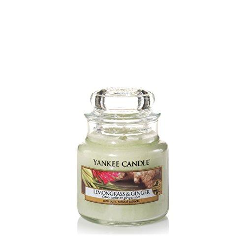 Yankee Candle 1507706E Bougie Parfumée Petite Jarre Citronnelle et Gingembre Combinaison Vert 6 x 6 x 8,9 cm 104 g