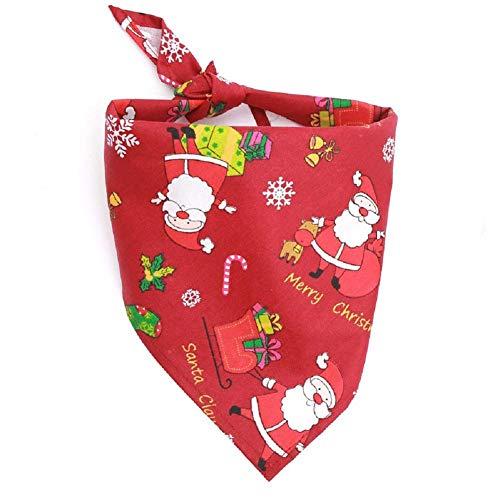 XuBa Speicheltuch für Haustiere, Weihnachtsmotiv, Baumwolle, dreieckig, für Hunde und Katzen, rot, L (Süße Rote Binder)