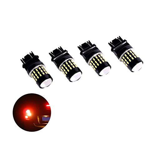 Eyourlife Standlichtbirnen KFZ Standlichtlampen LED Canbus Fehlerlose 3157 3014 54W FPC+TJ KFZ Nachrüstsatz Birnen 4 Stück