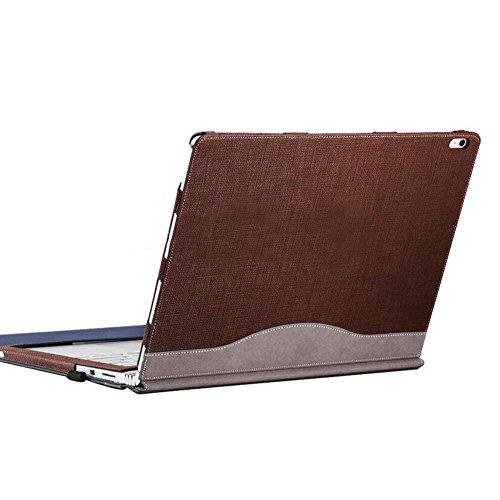 Laptop Fall, Microsoft Surface Book Case - Premium PU Leder Cover 13,5 Zoll,Magnetische Attraktion Abnehmbar Zwei Möglichkeiten Zu Verwenden Braun