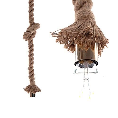 DESIGN DELIGHTS Abaca « Trosse » Naturel Hauteur 150 cm Ø 10 cm