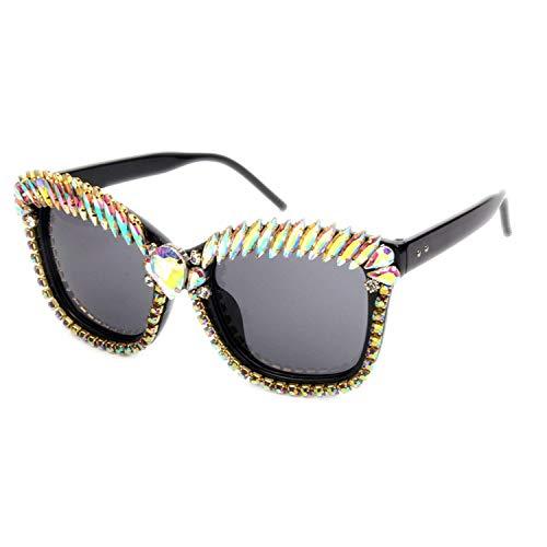 OULN1Y Sport Sonnenbrillen,Vintage Sonnenbrillen,Cat Eye Sunglasses Women Designer Luxury Crystal Sexy Sunglasses Rhinestone Fashion Shades