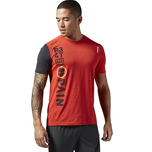 Reebok t-shirt da uomo a maniche corte Top One Series Breeze, Motor Red, 2XL, AJ0839
