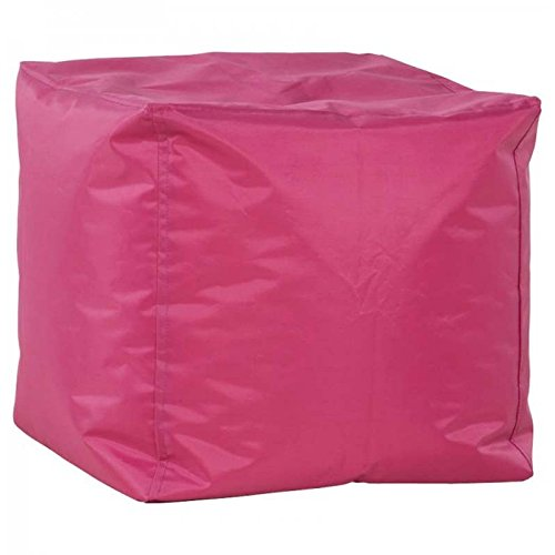 Paris Prix - Pouf Design Cube Fuschia