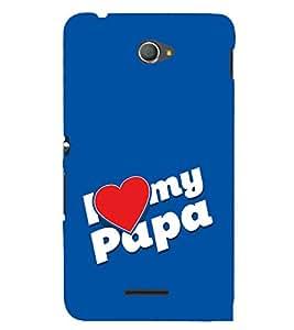 PrintVisa Love Dad 3D Hard Polycarbonate Designer Back Case Cover for Sony Xperia E4 Dual