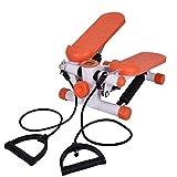 Homgrace Máquina de Step Swing Stepper, Stepper Up-Down con Cuerdas de Estiramiento para Principiantes y Usuarios Avanzados, Carga Máxima 100kg