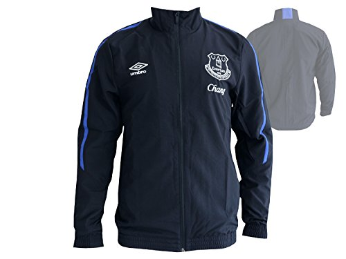Umbro FC Everton Fan Jacke Premier League Toffees Woven Jacket FussballTop, Größe:L -