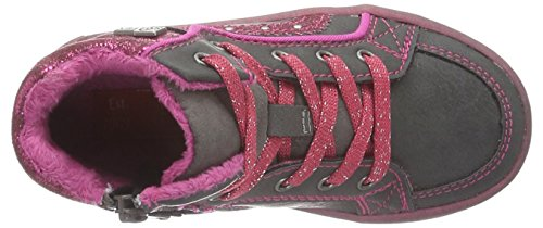 s.Oliver 35213, Sneakers Hautes Fille Gris (Grey/Fuxia 250)