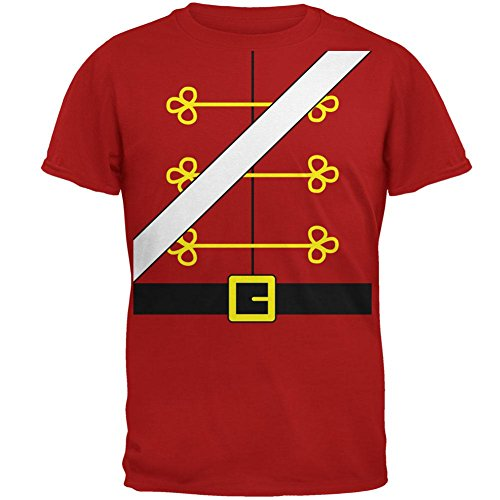Weihnachten Spielzeug Soldat Nussknacker Kostüm Herren Soft T Shirt rot LG