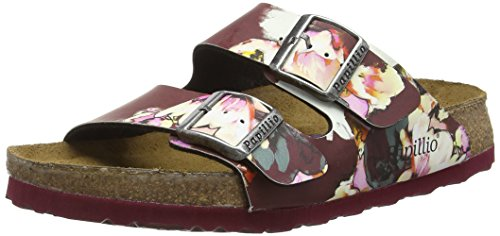 Birkenstock Arizona Birko-Flor Softfootbed, Ciabatte Donna, Multicolore (Mehrfarbig (Painted Bloom Red)), 39 Normale