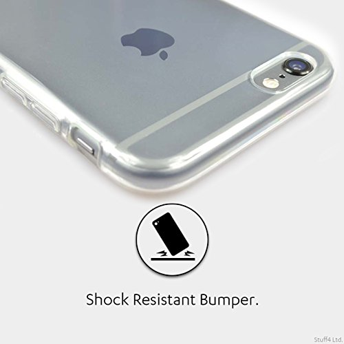 Stuff4 Gel TPU Hülle / Case für Apple iPhone 7 / Weiß 2 Muster / Armee/Tarnung Kollektion Blau 3