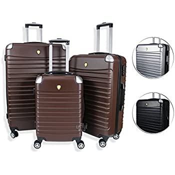 Rocklands London Lightweight 4 Wheel ABS Hard Shell Luggage ...