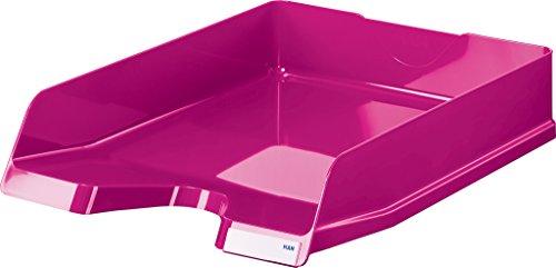 Han Portalettere Viva, DIN A4/C4, impilabile, lucide, con clip, confezione da pezzi Confezione da 5 New Colours Rosa