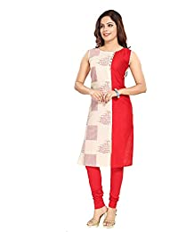 Dream & Dzire Women's Cotton Navy Blue Straight Kurti For All Plus Size And Small Size