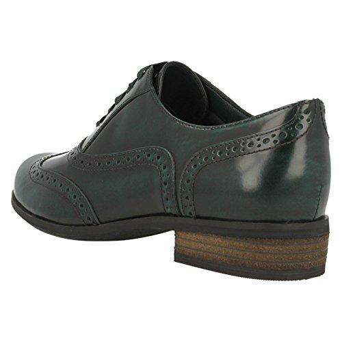 Clarks Damen Hamble Oak Derby Dark Green Lea