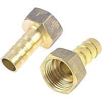 Sourcingmap a13061700ux0871 - Connettore capezzolo tubo filettato 2 pezzi tono oro ottone femminile