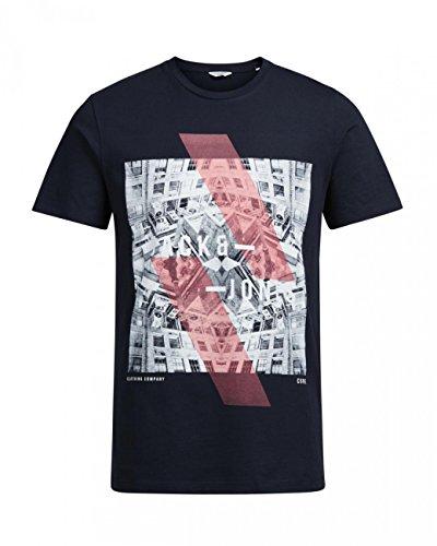 JACK JONES t-shirt emilio UOMO T-SHIRT M/C Azzurro