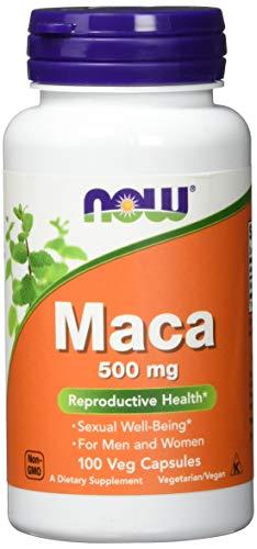 Now Foods Maca Für Frauen und Männer Vegetarisch Vegan, 500mg, 100 Kapseln