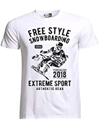 Ekate Free Style Snowboarding Snowboard Mens T-Shirt Black 5a1d86540a5