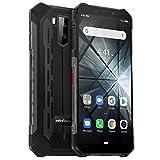 Telephone Portable Incassable Ulefone Armor X3 (2019) Android 9.0, Écran 5.5 Pouces HD+, 32Go + 2Go Batterie 5000mAh, Double SIM Nano Face ID Smartphone Pas Cher Mode sous-Marin et Gant - Noir