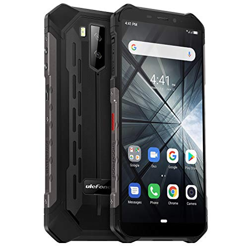 Ulefone Armor X3 (2019) Outdoor Handy 5000mAh Akku Android 9 Pie 32GB Speicher 2GB RAM, IP69K Smartphone Wasserdicht, Stoßfest Staubdicht, 5,5 Zoll Display Kompass Face ID WiFi GPS, Schwarz -