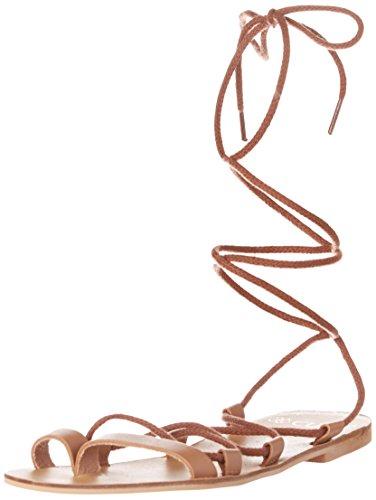 Cuple Romana Cuero, Sandales avec lanière de cheville femme Marron