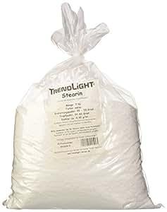 TrendLight 890019-5 Stéarine et cire de palmier 100% pure pour la fabrication de bougies 5 kg