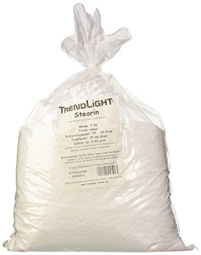 TrendLight 890019-5 Palmwachs-Stearin 100% rein zum Kerzen herstellen, 5 kg -
