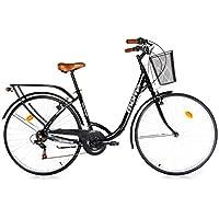 Moma Bikes BIC28NUN Vélo de Ville Mixte Adulte, Noir