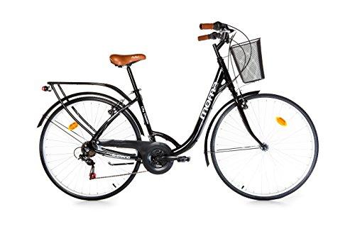 Moma - Bicicleta Paseo Citybike SHIMANO. Aluminio, 18 velocidades, ruedas de 28'