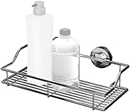 Bathla Dual Suction Stainless Steel Shelf / Rack (Silver) - With Twist Lock Technology for Instant Installation