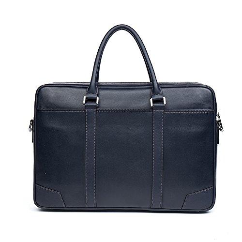 BOSTANTEN Herren Leder Aktentasche Umhängetasche Schultertasche laptoptasche businesstasche Groß Schwarz Blau